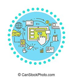Drop Shipping Concept Icon Flat Style