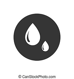 Drop vector icon in trendy flat style