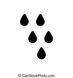 Drop Vector Icon. line design isolated on white.