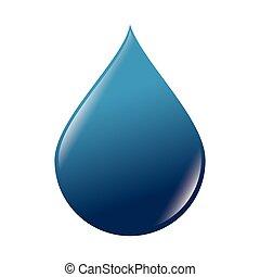 drop water blue
