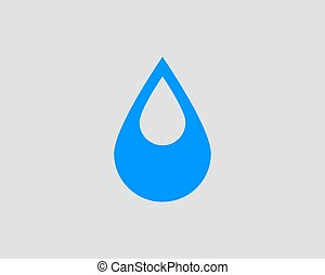Drop water icon vector isolated design element