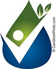 Drop Water Leaf People