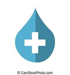 drop with cross medical