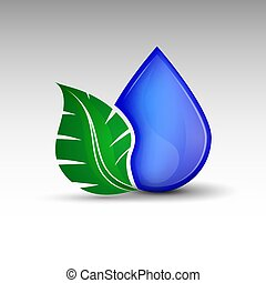 Drop with leaf