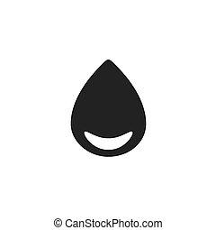 drop with round corner black web icon