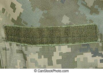 dropiaty, wojskowy, odzież, velcro