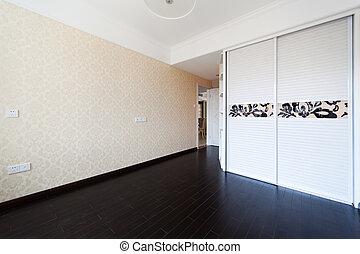 droplamp, dormitorio, vacío, gabinete