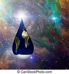 Droplet earth