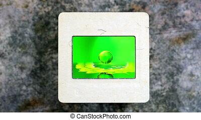 Droplet - Water Surface on vintage slide film