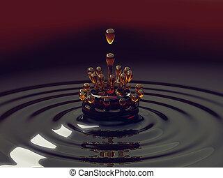 droplets, gespetter, vloeistof, kleurrijke