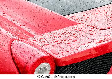Droplets on a sport car