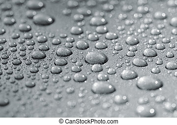 Droplets on car - Droplets on a car. Short depth of field....