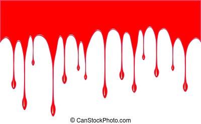 droppande, bakgrund, blod