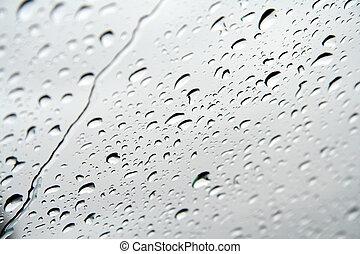 droppar, av, vatten