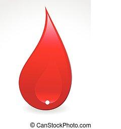 droppe, blod, abstrakt