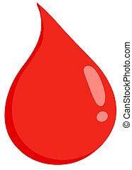 droppe, blod