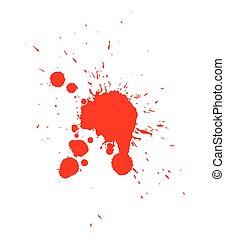 droppe, vektor, blod