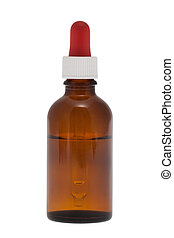 Dropper bottle with clipping path