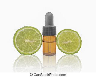 Dropper bottle with kaffir lime