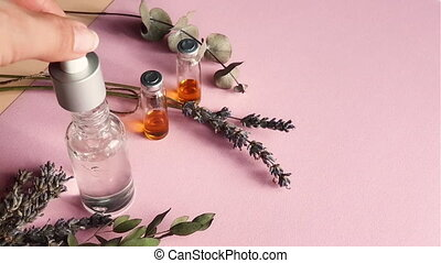 Herb oil from natural for aromatherapy, alternative medicine and product for health and wellness