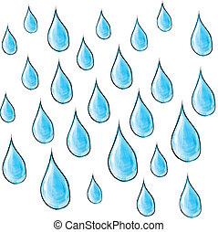 drops., 雨