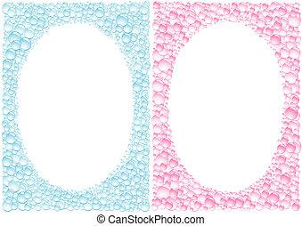 Drops framework - The drops blue and pink framework for ...