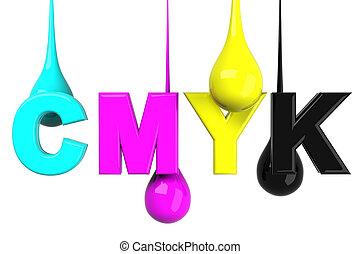 Drops in CMYK