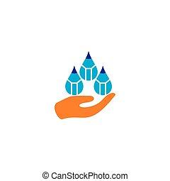 drops of science pencil education logo vector