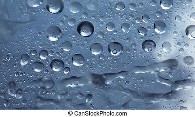Drops of the rain, Backgrounds - Drops on window glass...