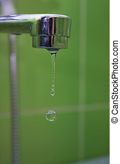 drops of water from the tap