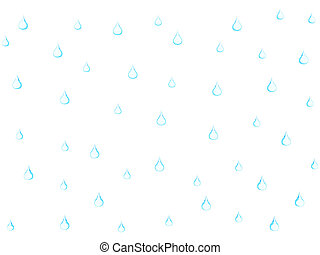 Drops of water isolated on a white background. High resolution 3D render.