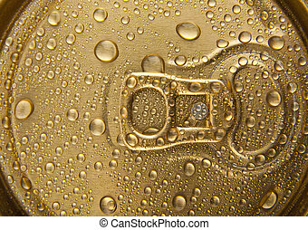 drops of water on a gold background