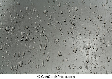 drops of water on the car after rain