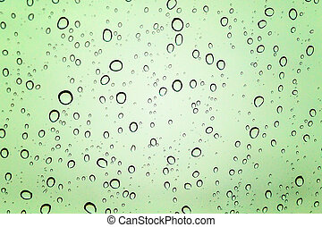 Drops on a glass surface