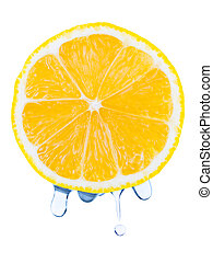 Drops on lemon