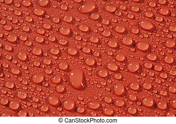 drops on orange background