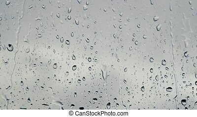 Drops on the glass