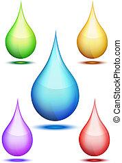 Drops set - gradient mesh used, eps10 vector illustration