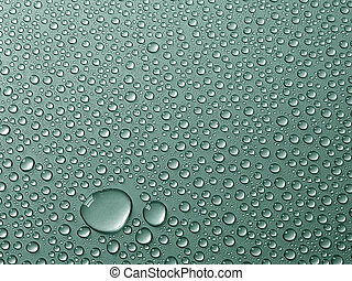 Drops - Water drops on metal