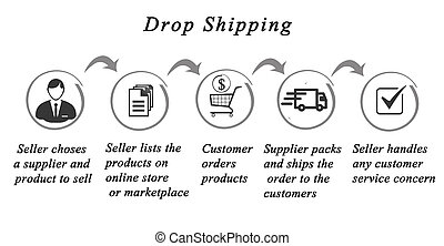 Dropshipping process :seller and producer
