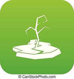 Drought icon digital green