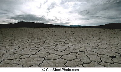 drought land - tracking shot.