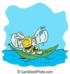 drowning bee