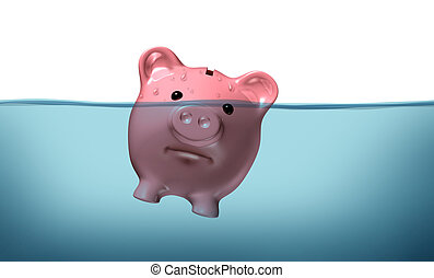 Drowning in debt and keeping your financial head above water...