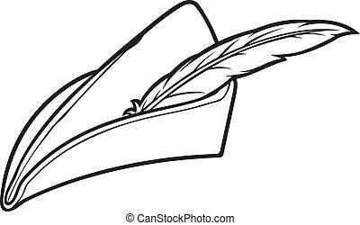 drozd stěhovavý stínidlo, klobouk