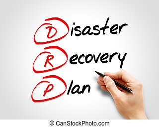 DRP - Disaster Recovery Plan, acronym business concept