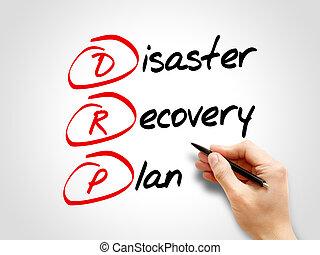 drp, -, plan, récupération, désastre