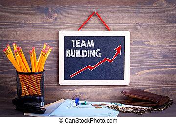drużyna, pojęcie, handlowy, powodzenie, budowa.