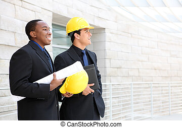 drużyna, zbudowanie, biuro, handlowy, umiejscawiać