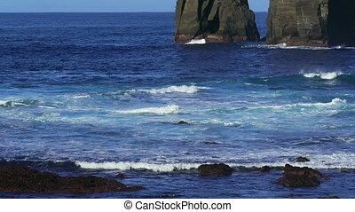 druchbrechen, wasserlandschaft, atlantisch, Wellen, steinen, an